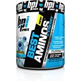 BPI Sports Best Aminos with Energy Peptide Linked BCAAs and Glutamine Supplement, Icy Blue Raz, 10.58 Ounce