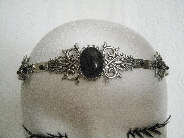 Gothic Circlet handmade jewelry renaissance medieval victorian art nouveau art deco tudor headpiece tiara crown