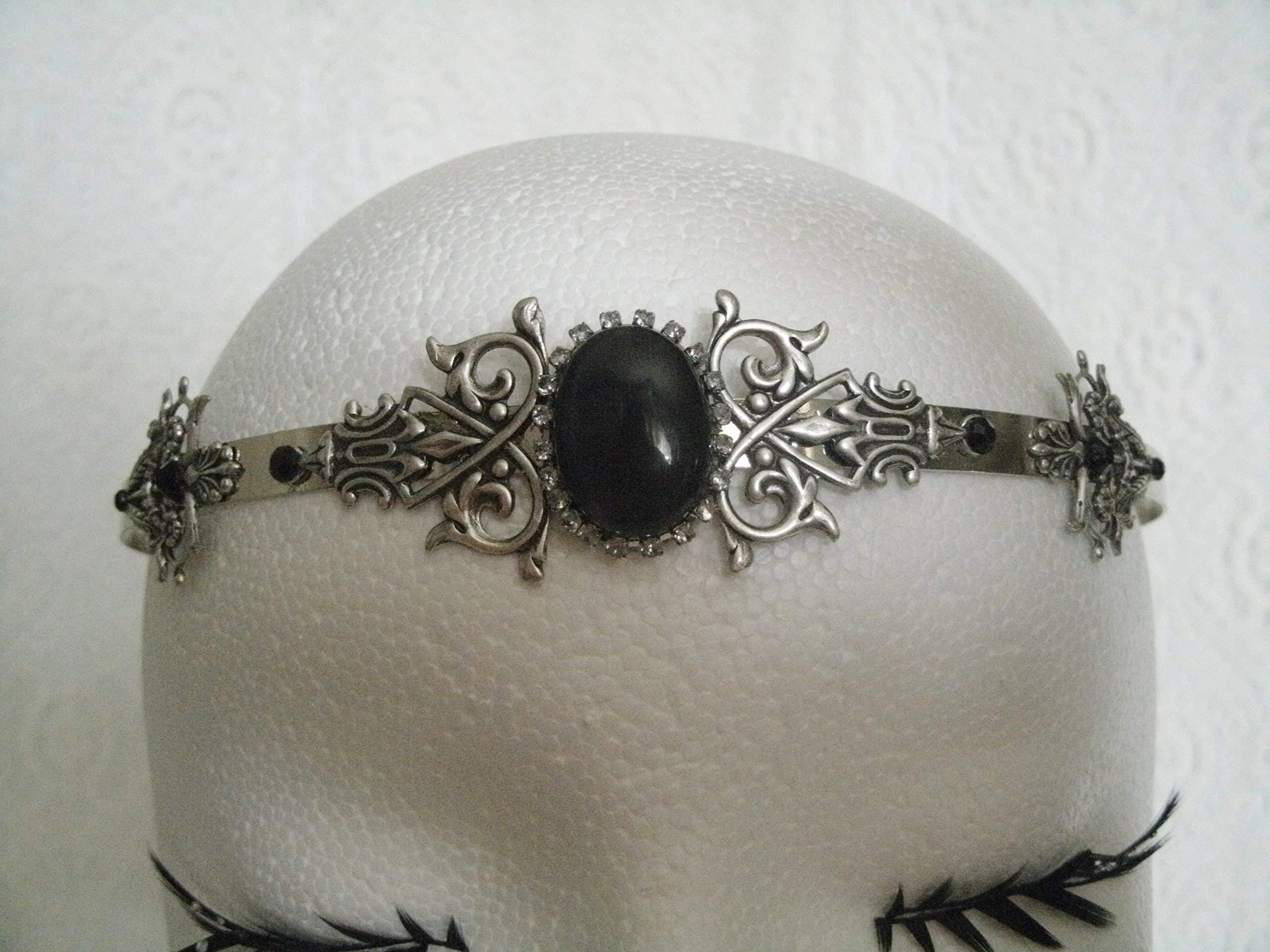 Gothic Circlet, handmade jewelry renaissance medieval victorian art nouveau art deco tudor headpiece tiara crown