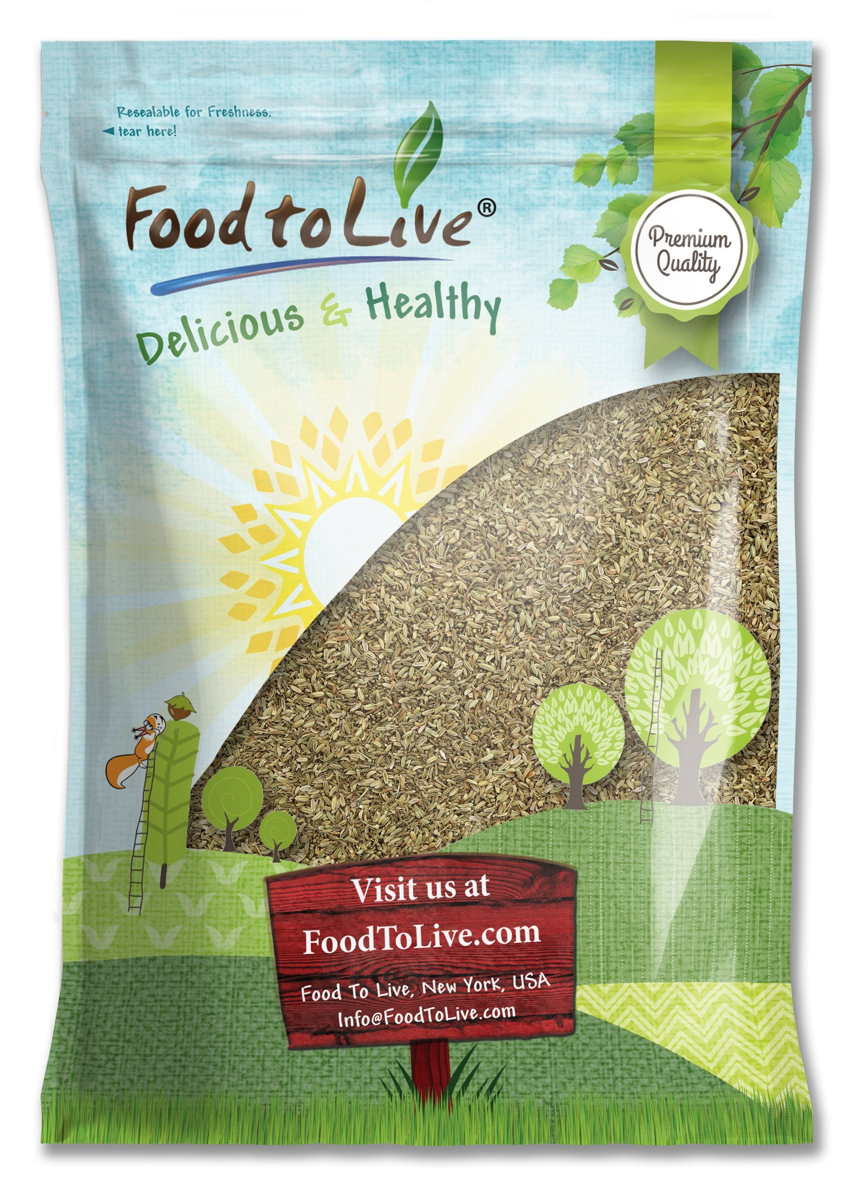 Fennel Seed Whole by Food to Live (Kosher, Bulk) — 5 Pounds by Food to Live (Image #1)