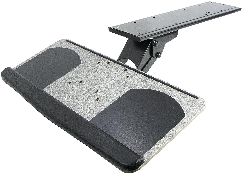 Amazon.com : VIVO Adjustable Computer Keyboard U0026 Mouse Platform Tray  Ergonomic Under Table Desk Mount Drawer (MOUNT KB01) : Office Products