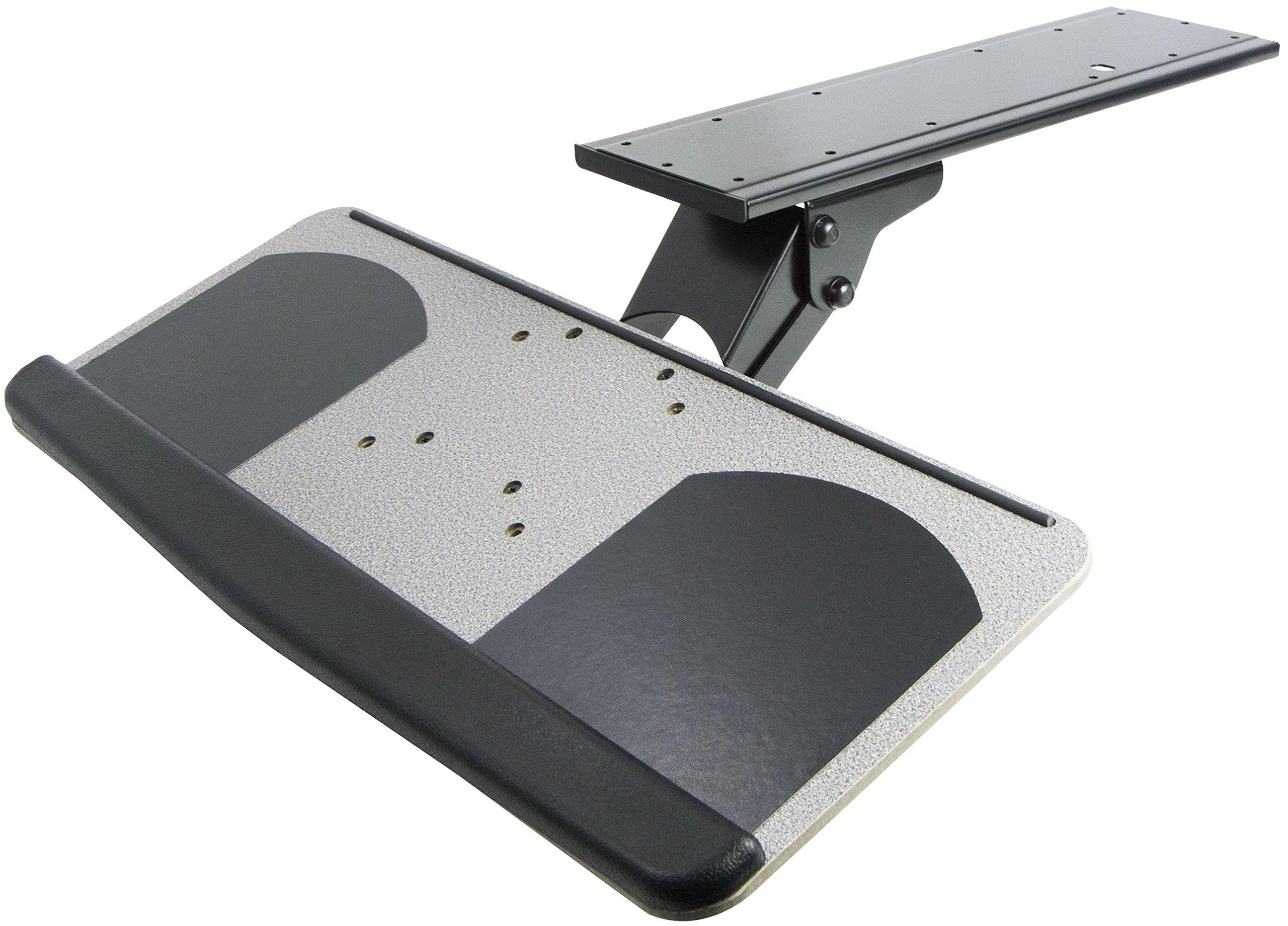 VIVO Adjustable Computer Keyboard & Mouse Platform Tray Ergonomic Under Table Desk Mount Drawer (MOUNT-KB01)