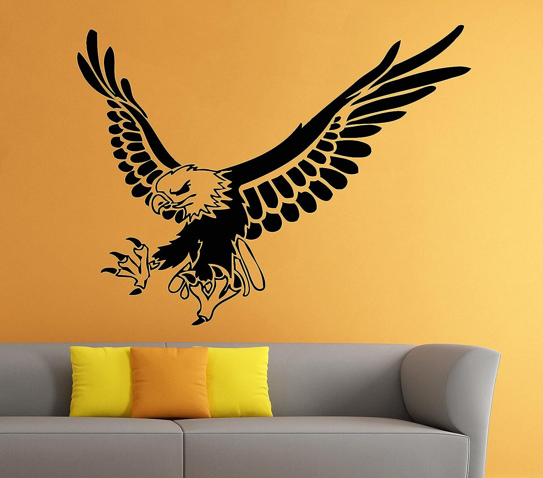 Eagle Wall Decal Bird of Prey Bald Eagle Head Hawk Decals Wall Vinyl ...