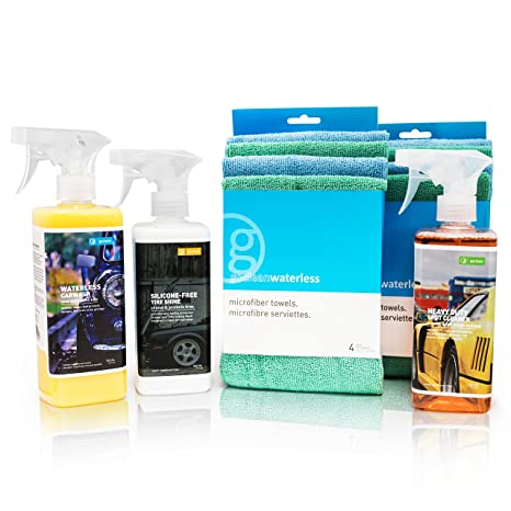 goclean 5pc Car Wash & detalles Combo Kit – Waterless Wash Spray, Heavy Duty Limpiador