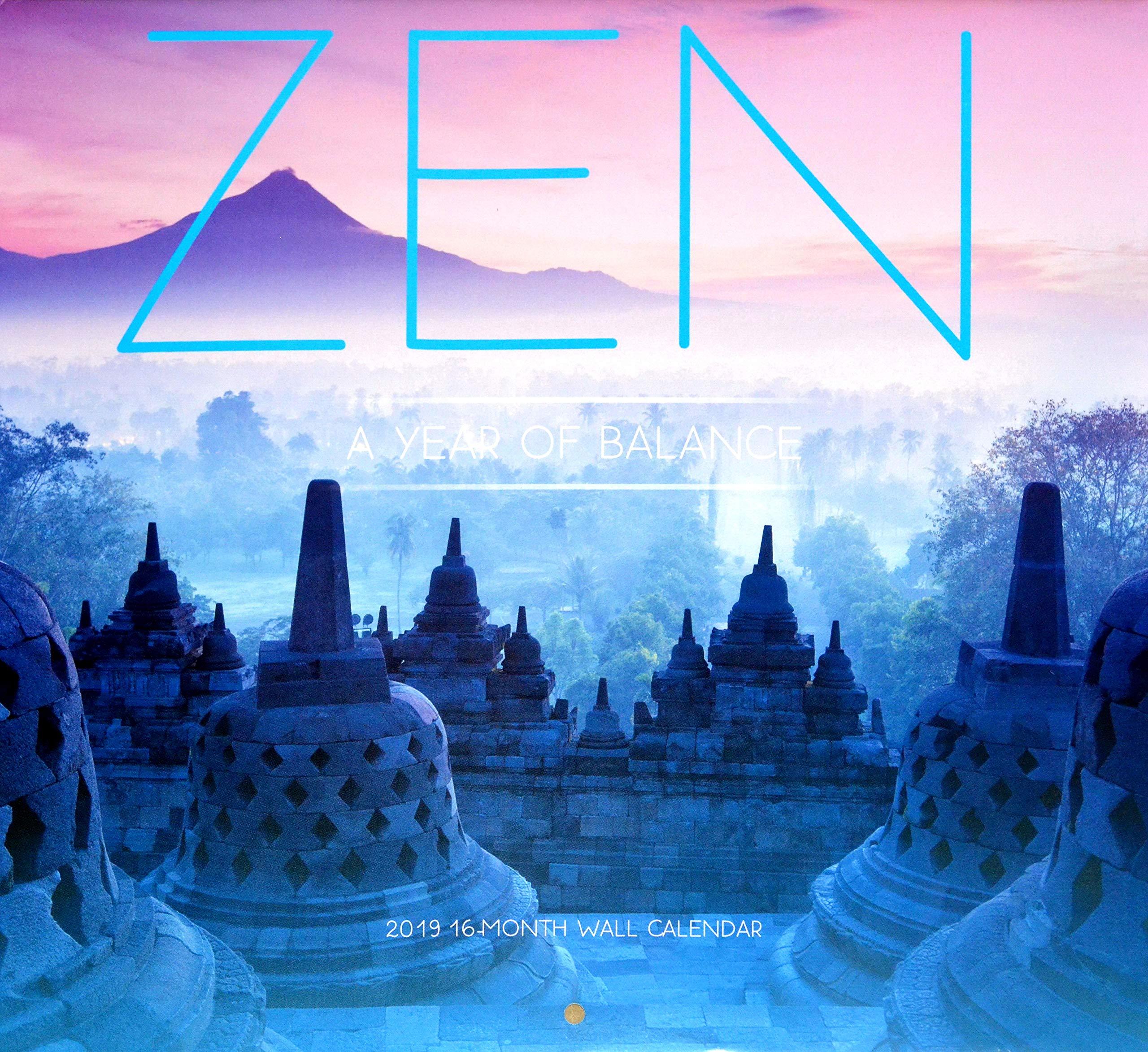 Zen: A Year of Balance 2019 16-Month Wall Calendar