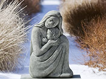 mother and child statue - cradling baby