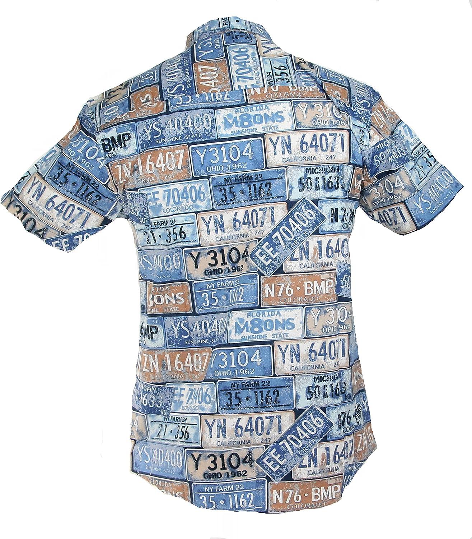 TRANKILO Camisa Estampado de matrículas (L): Amazon.es: Ropa y accesorios