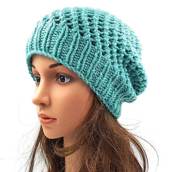 5e196bff545 Magic Needles Winter Woolen Cap (Handmade Womens Netted Beanie - Sea  Green)  Amazon.in  Clothing   Accessories