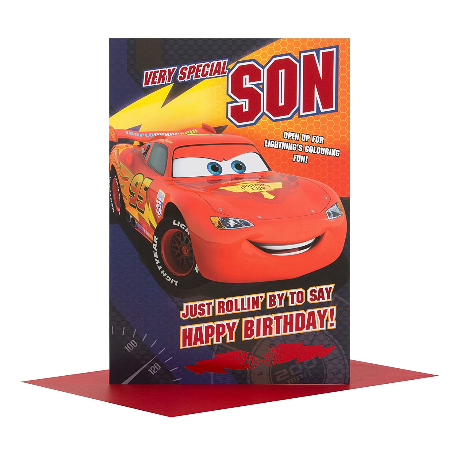 Amazon Disney Cars Son Birthday Card Office Products