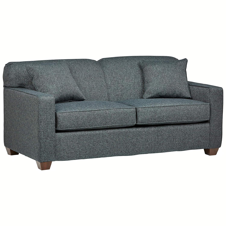 Stone Beam Fischer Full-Sized Sleeper Sofa, 72 W, Blue Fabric