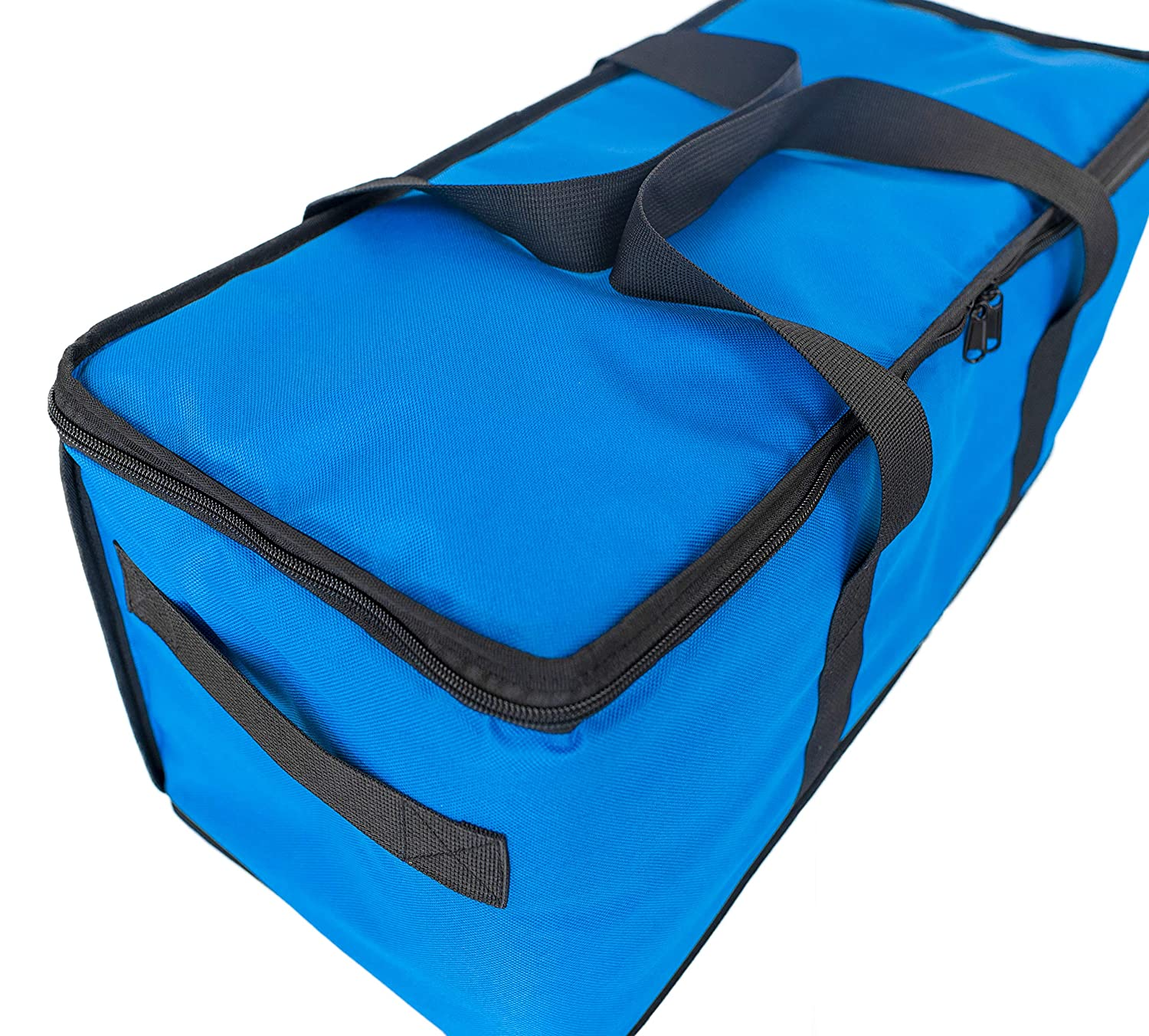 EMMandSOPHIE Insulated food delivery bag - BLUE Delivery Bags for Hot Food - Insulated, Padded and Lined to Keep Food Hotter -M Sturdy Commercial Quality Food Delivery Bag is 22