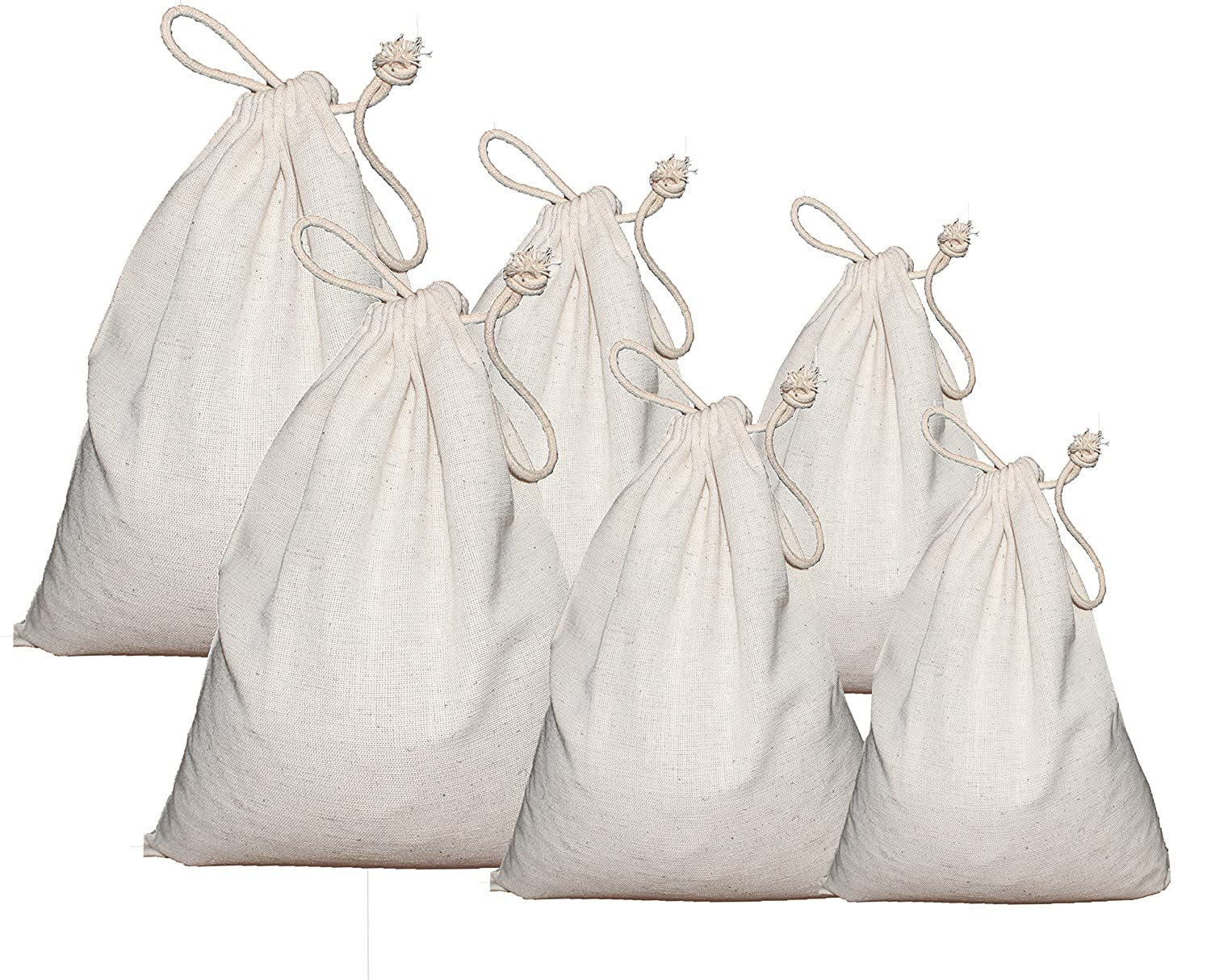 FlaxコットンGrocery Bag 6pk B073S7BY4Y