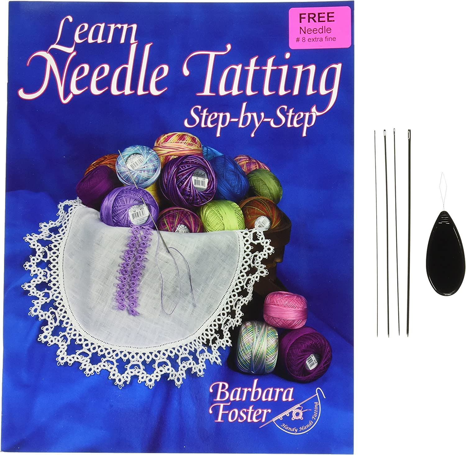 Handy Hands Handy Case For Tatting Needles-clear//blue