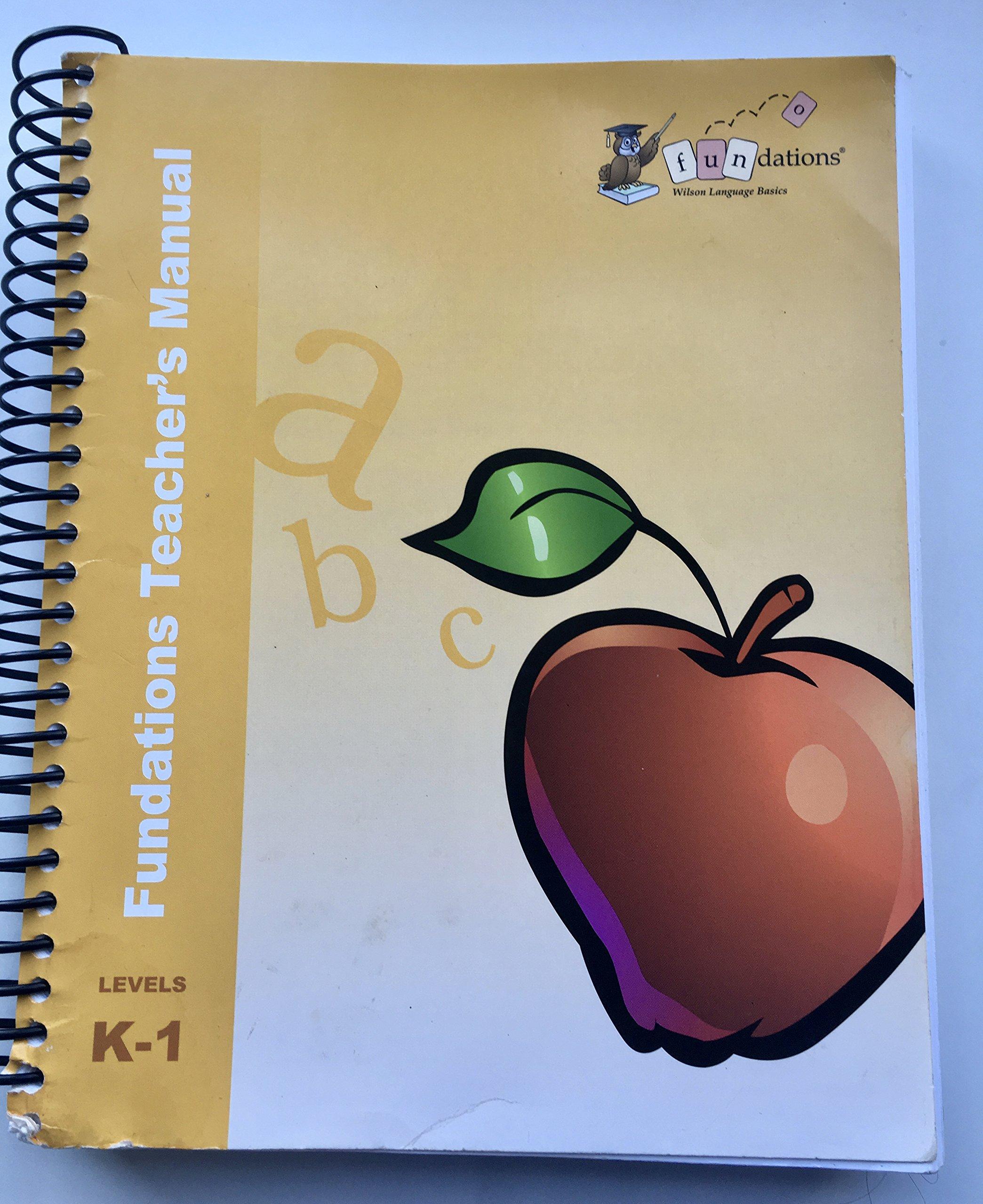 Fundations Teacher's Manual K-1 pdf epub