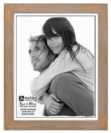 malden international designs linear rustic wood picture frame 8x10 driftwood - Driftwood Frame