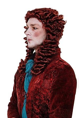 WIG ME UP ® - WIG013-P350 Peluca hombres Carnaval Barroco Renacimiento noble Casanova príncipe