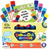 Washable 8 Colors Dot Markers Pack Set. Fun Art Supplies for Kids, Toddlers and Preschoolers. Non Toxic Arts and Crafts…