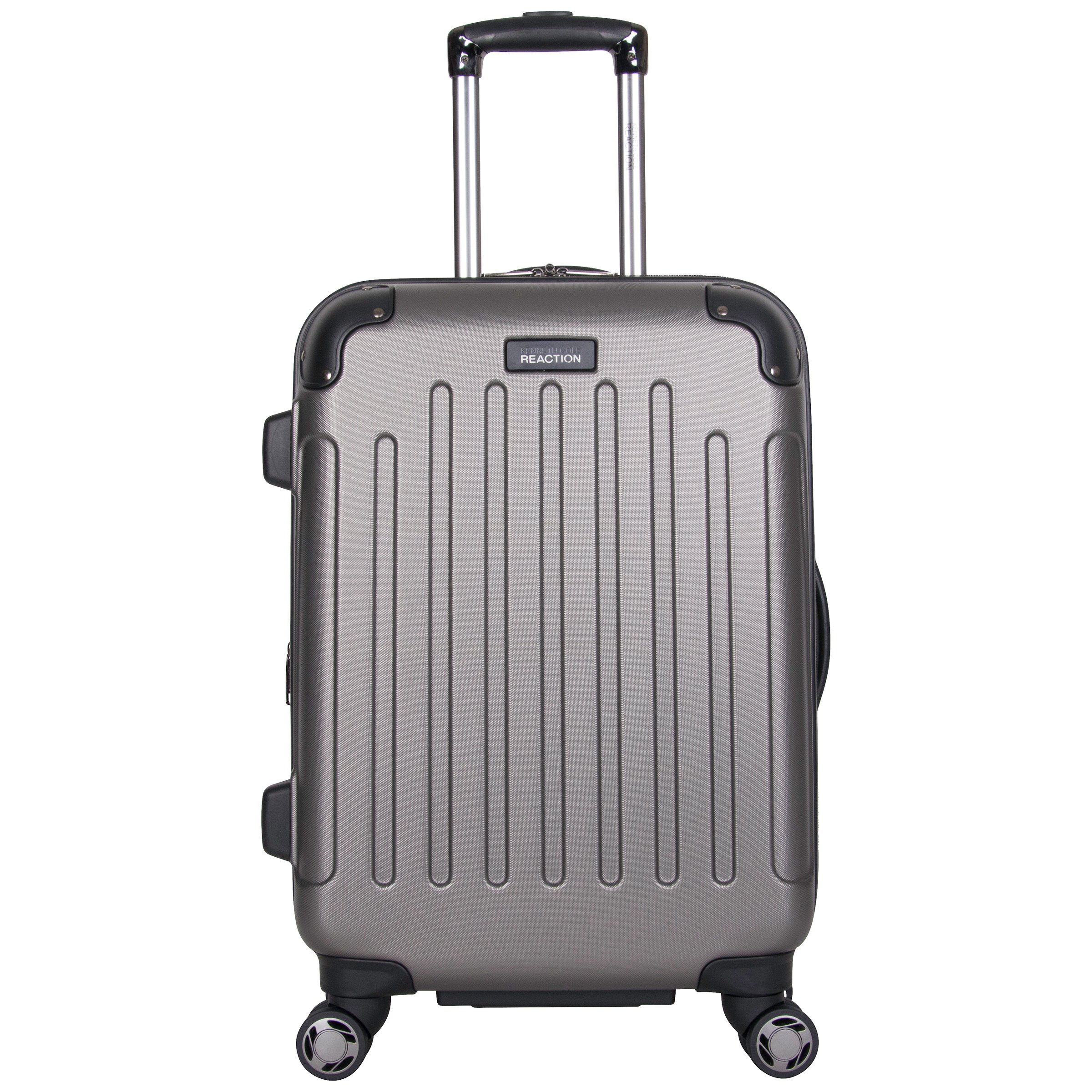 Kenneth Cole Reaction Renegade 20'' Hardside Expandable 8-Wheel Spinner Carry-on Luggage, Silver