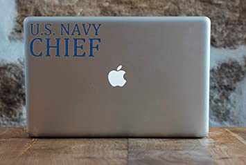 BriCals Vinyl Decals US Navy Chief Petty Officer USN CPO Car /& Truck Window Decal Sticker 5.1x2.4 Blue /& Gold Metallic Glitter Vinyl Made in USA