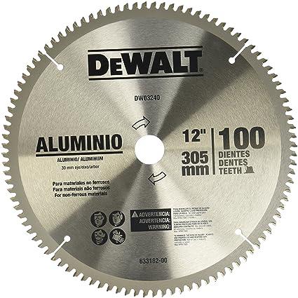 "9f9fd73d16dc Dewalt DW03240 Disco Sierra 12"" x 100 Dientes Aluminio Madera. Pasa el  mouse encima de la imagen para ..."