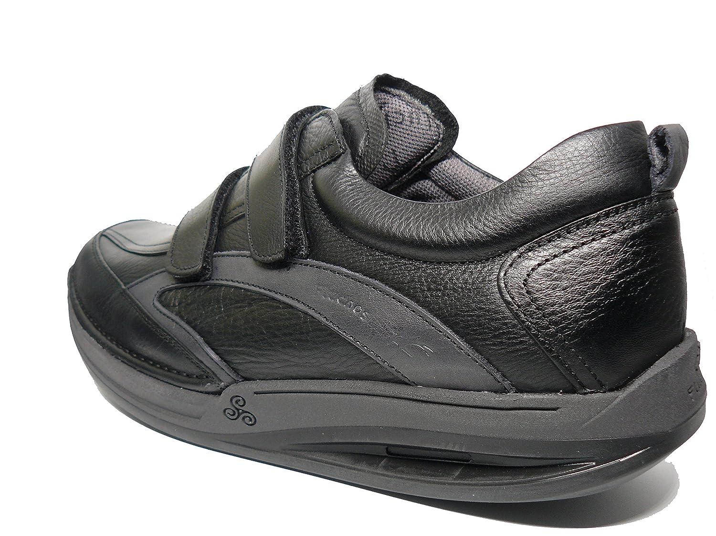 57bf2a4a Zapatos hombre con velcros FLUCHOS - Piel Negro
