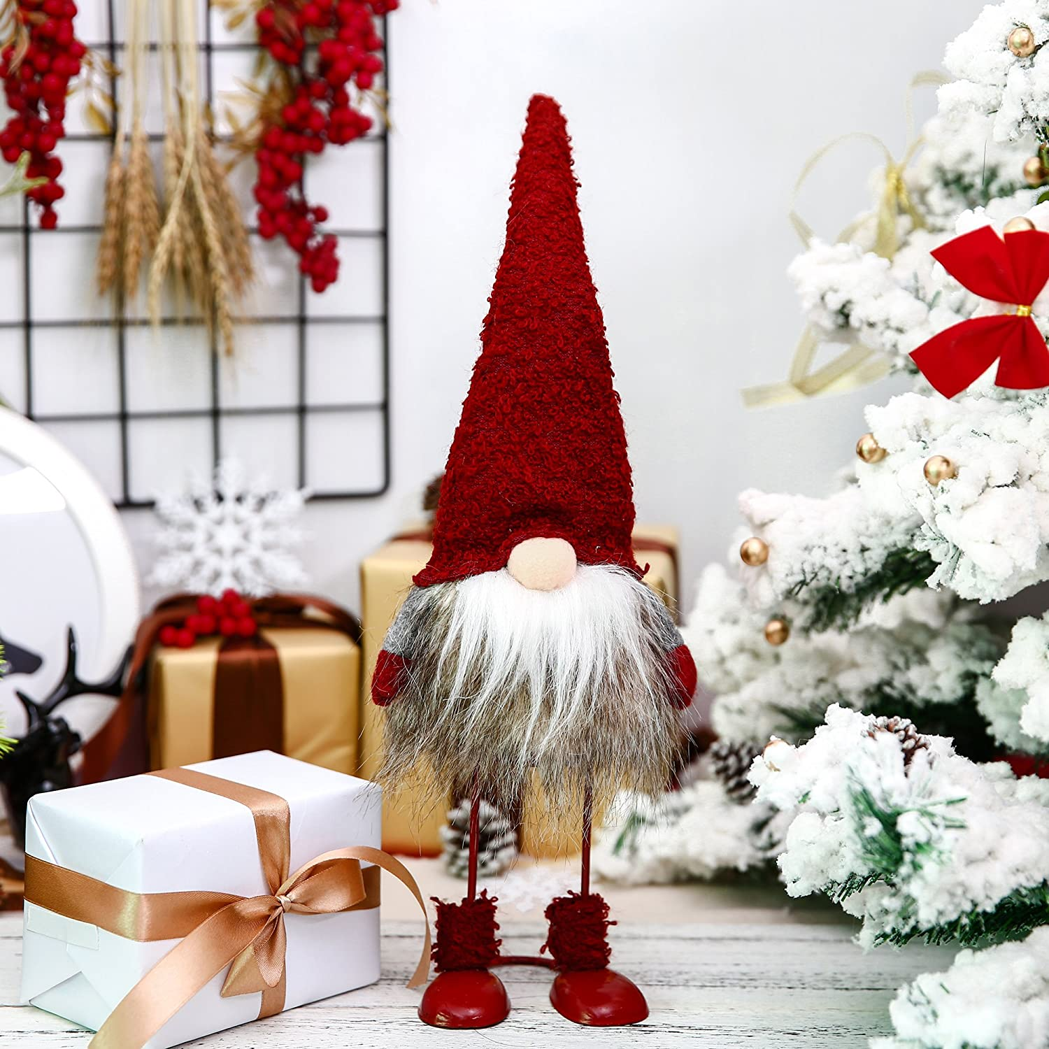 Grey Nordic Elf Figurine Easter/'s Gnome Gifts 12 Inches ITOMTE-08G Nordic Elf Figurine Easters Gnome Gifts Scandinavian Tomte Plush Toy Winter Table Ornament Decoration Yule Santa Nisse 12 Inches ITOMTE Handmade Swedish Gnome