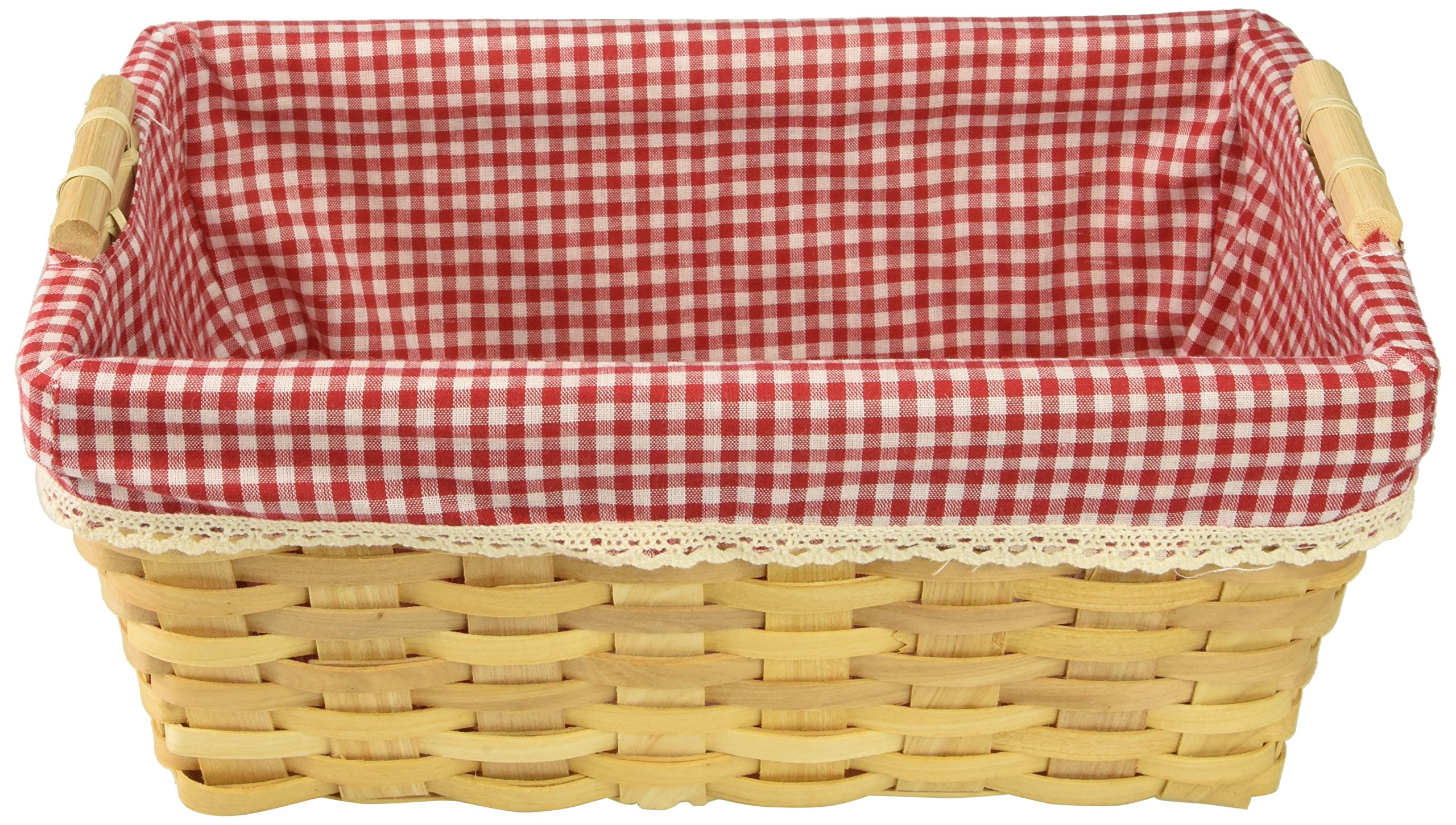 Vintiquewise(TM) Gingham Lined Baskets Set of 2 by Vintiquewise (Image #4)