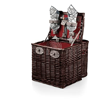 Picnic Time Vino Picnic Basket with Wine and Cheese Service for Two, Harmony Collection