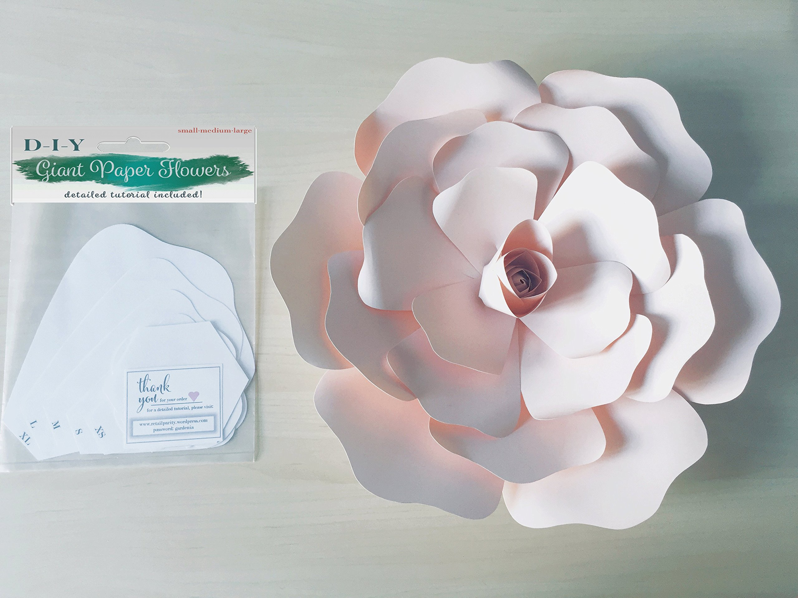 Paper Flower Template Kit Diy Wall Decoration Instructions