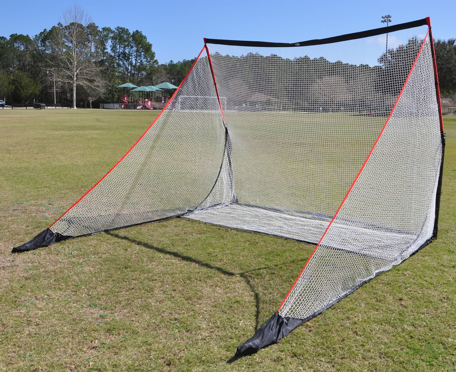 amazon com optum home golf net driving range with ball return