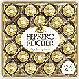 Ferrero Rocher Fine Hazelnut Milk Chocolate, 24 Count, Chocolate Candy Gift Box, 10.5 Oz, Perfect Easter Egg and Basket Stuffers