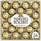 Ferrero Rocher Fine Hazelnut Milk Chocolate, 24 Count, Chocolate Candy Gift Box, 10.5 Oz, Perfect Easter Egg and Basket Stuff