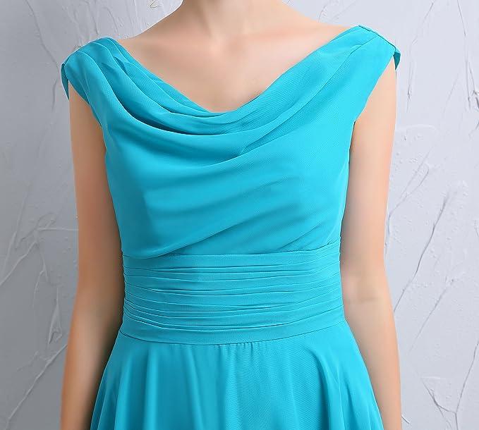 ThaliaDress Short Chiffon Draped Neck Backless Prom Gown Bridesmaid Dress T101LF