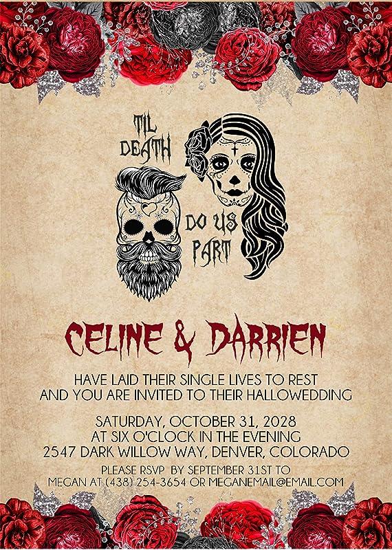 Gothic wedding stationery Gothic wedding place card Alternative wedding escort card Halloween wedding decor Skull laser cut name card