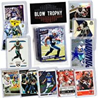 $24 » NFL Running Back Football Card Bundle, Assorted Set of 12 Mint Star RB Football Cards Gift Set, Includes one Relic, Serial, or Rookie, Protected…