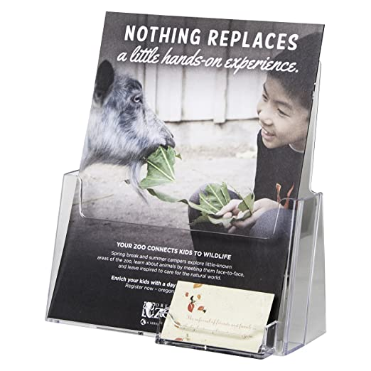 Amazon.com : Clear-Ad - LHF-P120 - Flyer Holder Pamphlet Display ...
