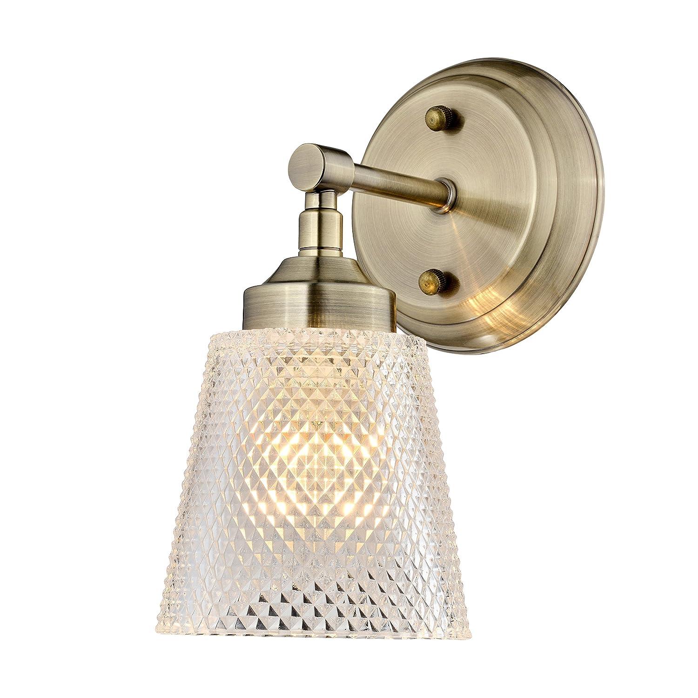 Varaluz Westport Bath Vanity、アンティーク真鍮 1 Light ゴールド 312B01AB 1 B079P715WV 1 Light|アンティーク真鍮