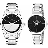 ADAMO Designer Analog Black Dial Unisex Watch - A816-817SM02