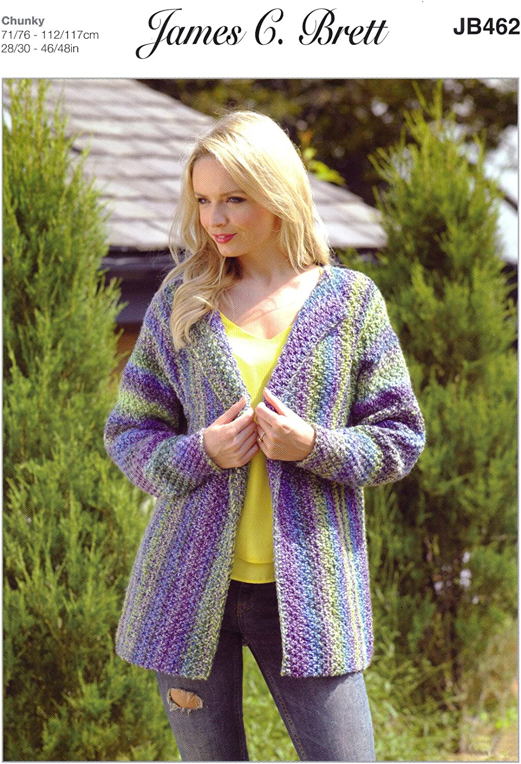 JB112 James C Brett Ladies Mega Chunky Jacket Knitting Pattern