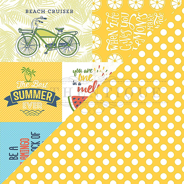 Authentique Paper Summertime Double-Sided Cardstock 12 X12 - 5 Cut-Aparts 4 X6  & 4 X4  B07D19228G | eine große Vielfalt