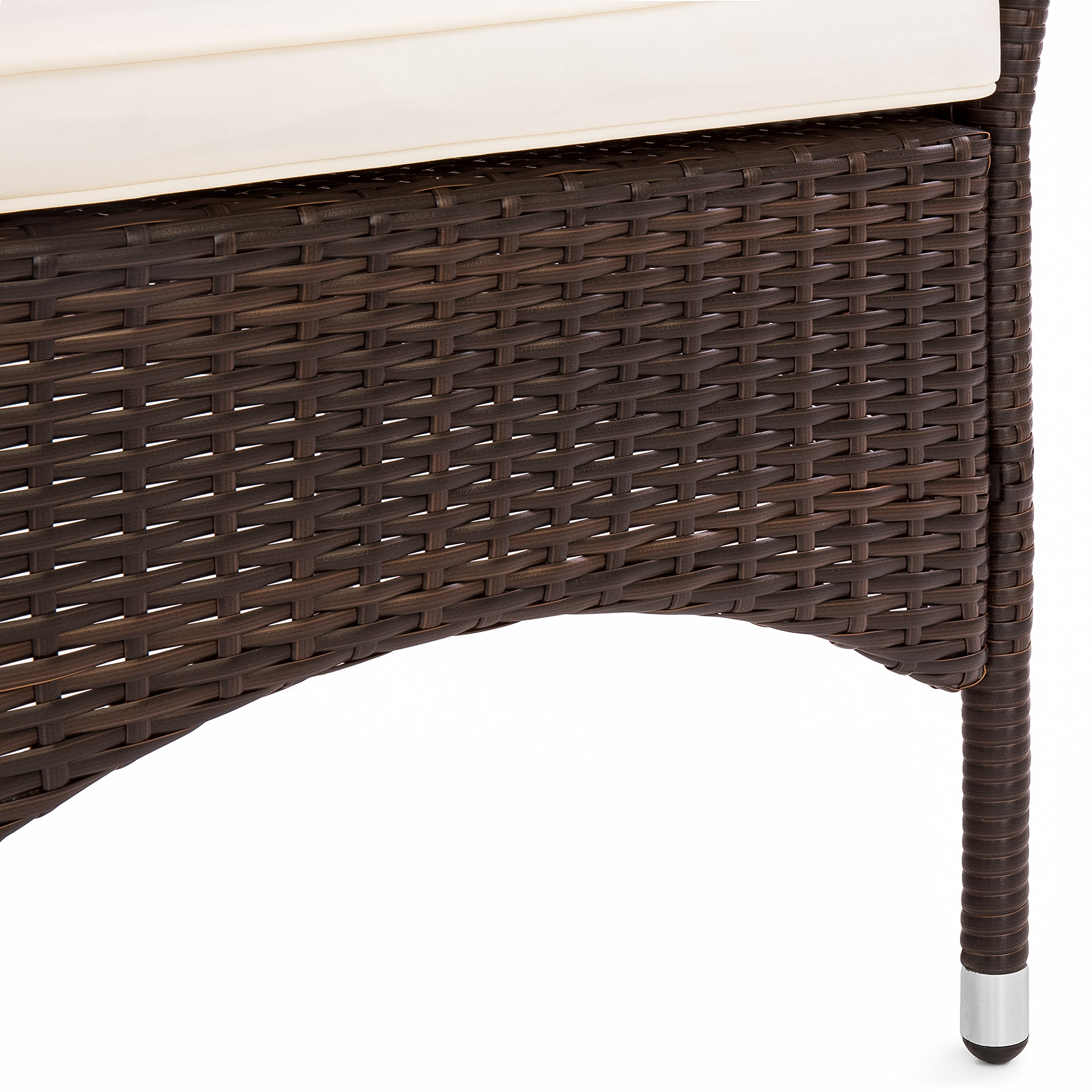 Best Choice Products Set of 2 Modern Contemporary Wicker Patio Dining Chairs w/Water Resistant Cushion - Brown by Best Choice Products (Image #4)
