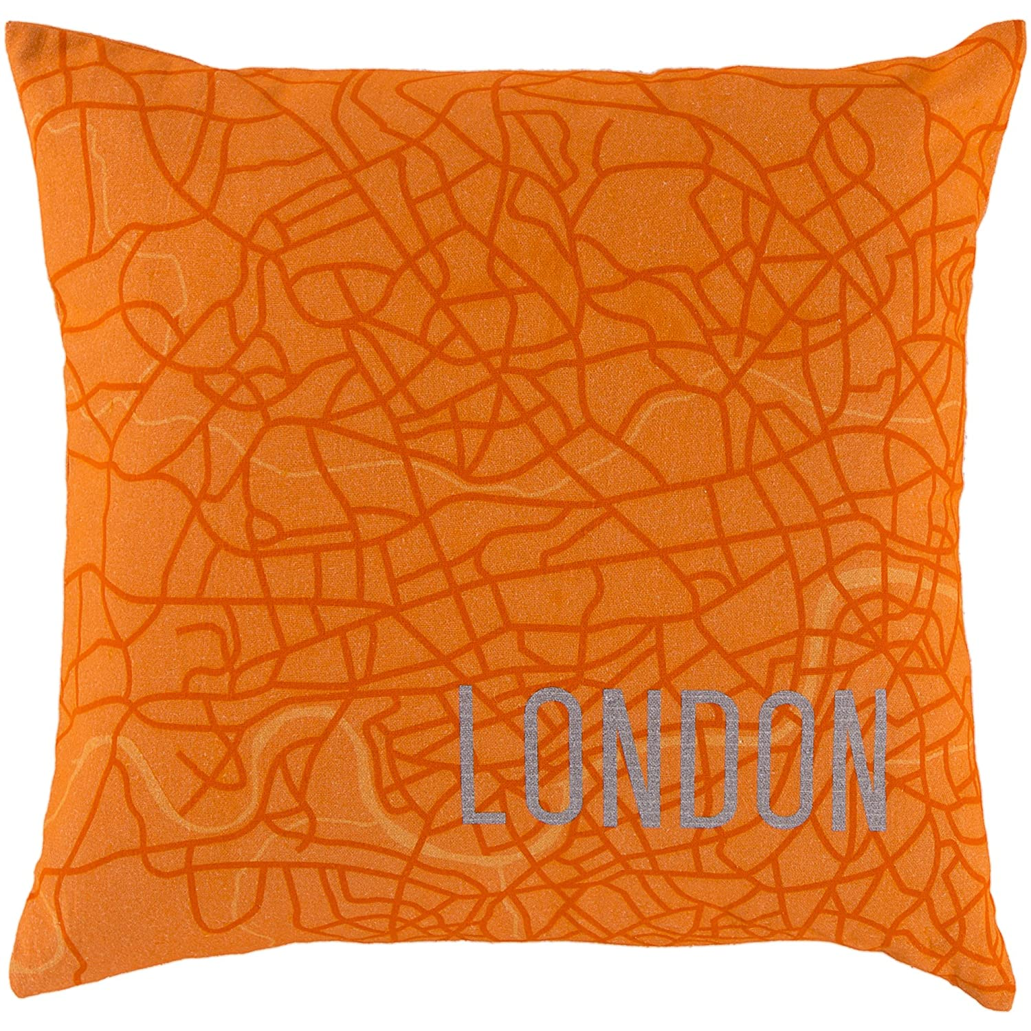 Surya Rug SY019-2222D Square Tangerine Down Feathers Pillow 22 in.   B00H2KCNOC
