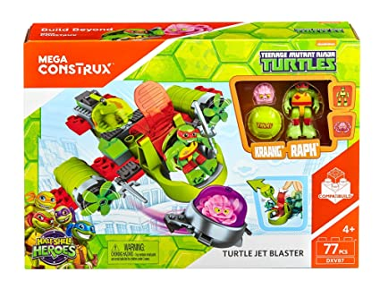 Amazon.com: Mega construx lanzador de tortugas teenage ...