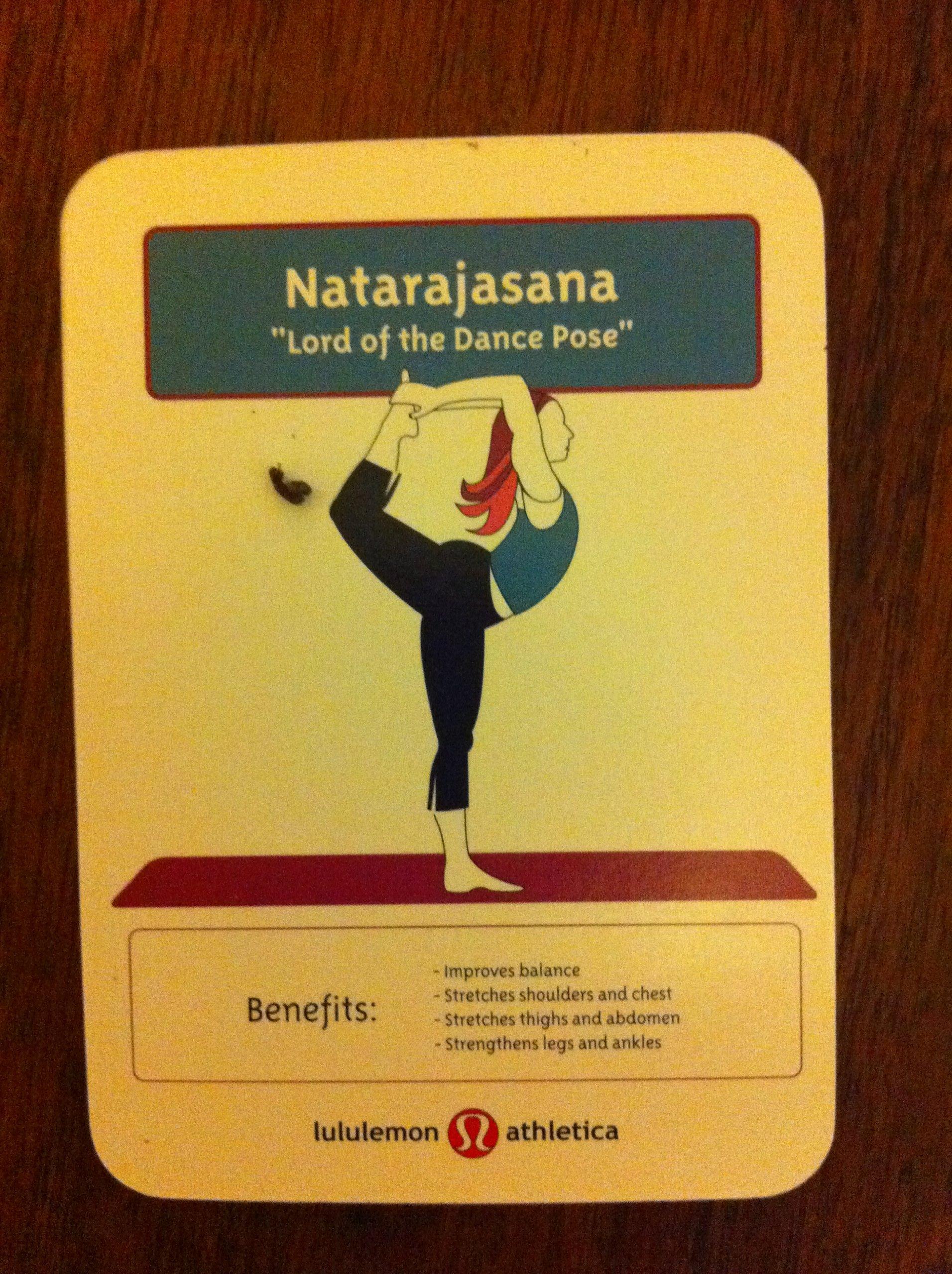 Set of Cards with Yoga Poses: Lululemon Athletica: Amazon ...