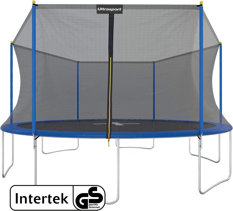 Ultrasport Cama elástica de jardín Uni-Jump Trampolín Infantil, certificación Intertek GS, con Superficie de Salto, Red de Seguridad, Unisex Niños, Azul
