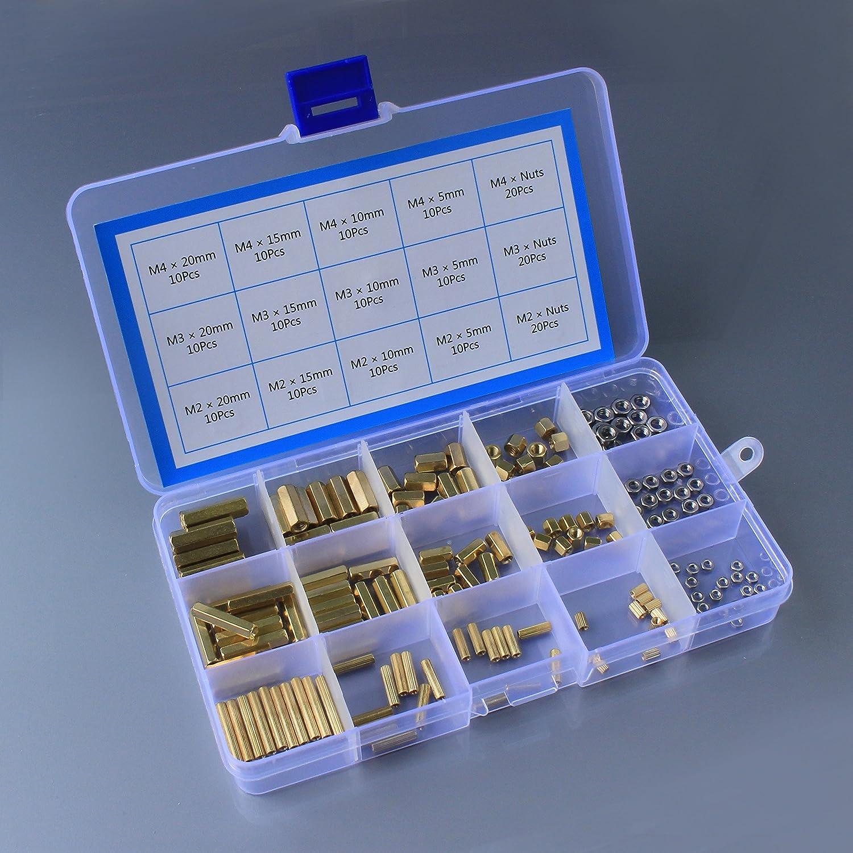 Clearain Kit de 360/pi/èces M2/M3/M4/M/âle Femelle entretoises de laiton vis avec /écrous