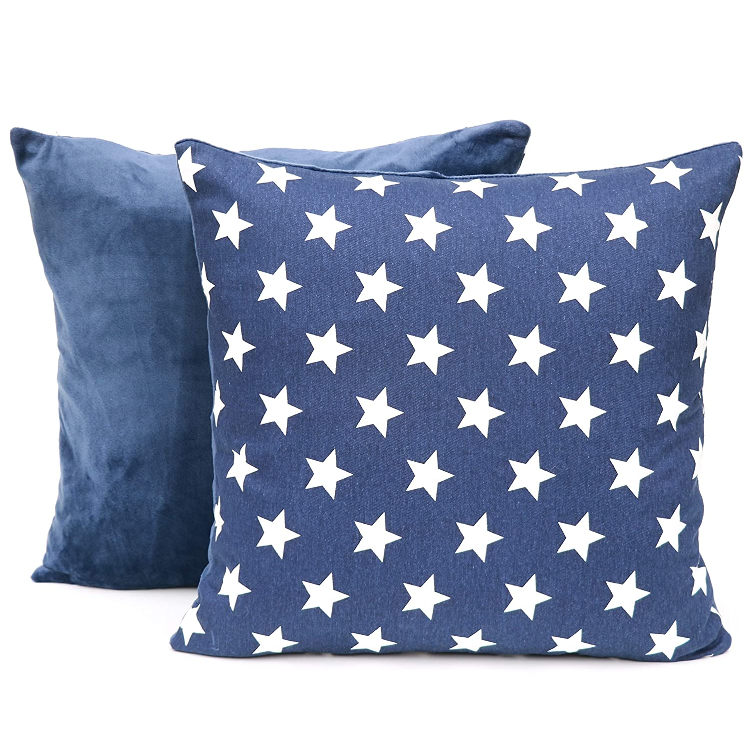 """MiniOwls Decorative Throw Pillow Covers Set of Two Kid/'s Room or Nursery Gray with White Arrows 2 17/""""x17/"""" Accent Plush Cushion Cases Soft D/écor for a Livingroom Sofa"""