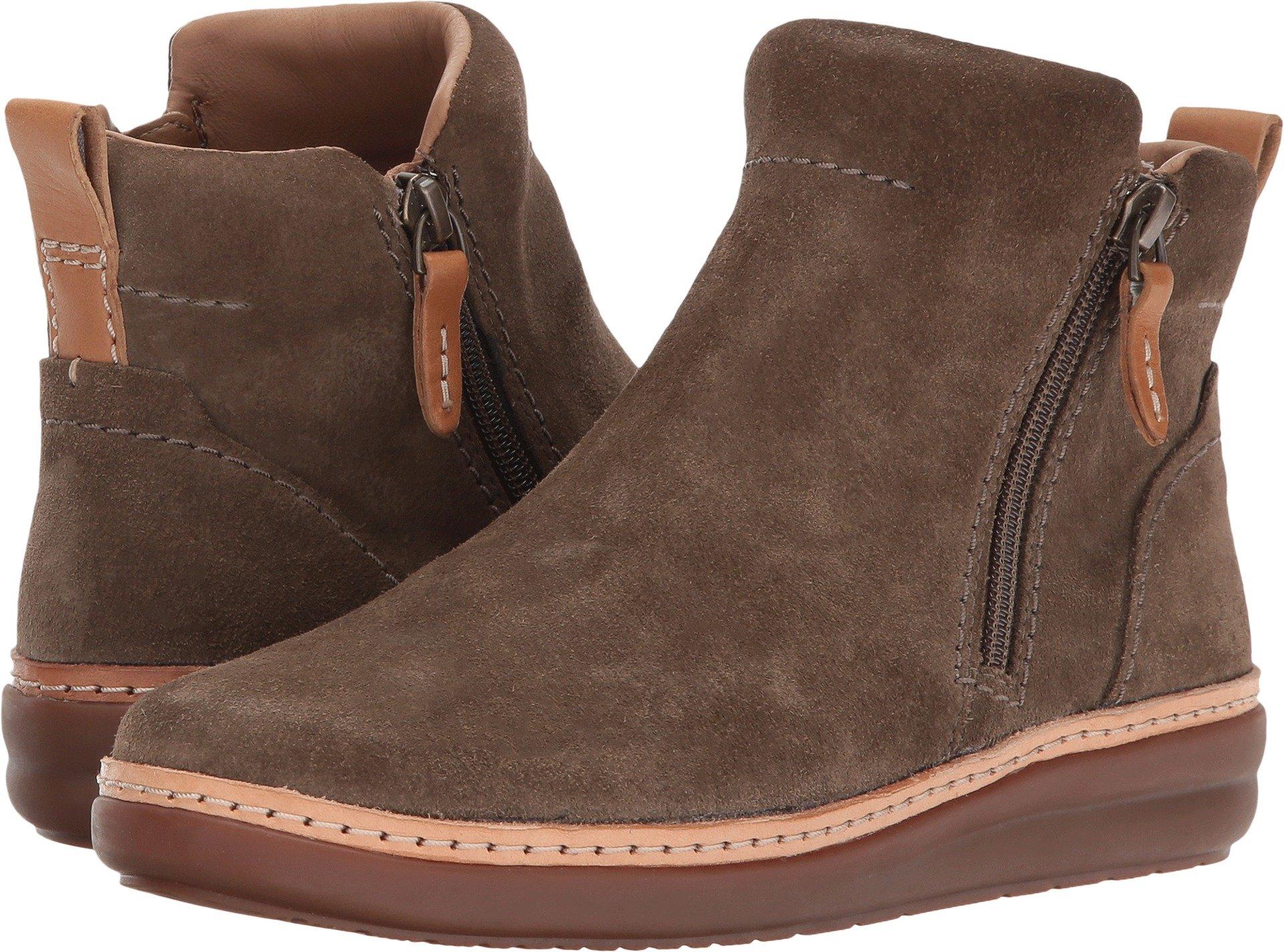 Clarks Women's Amberlee Rosi Olive Suede Shoe