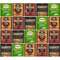 Twinings Bolsas Sabor de Green Tea Jasmine, Voyage Indian Chai, Orange & Cinnamon 20 Bolsas (1 pack)