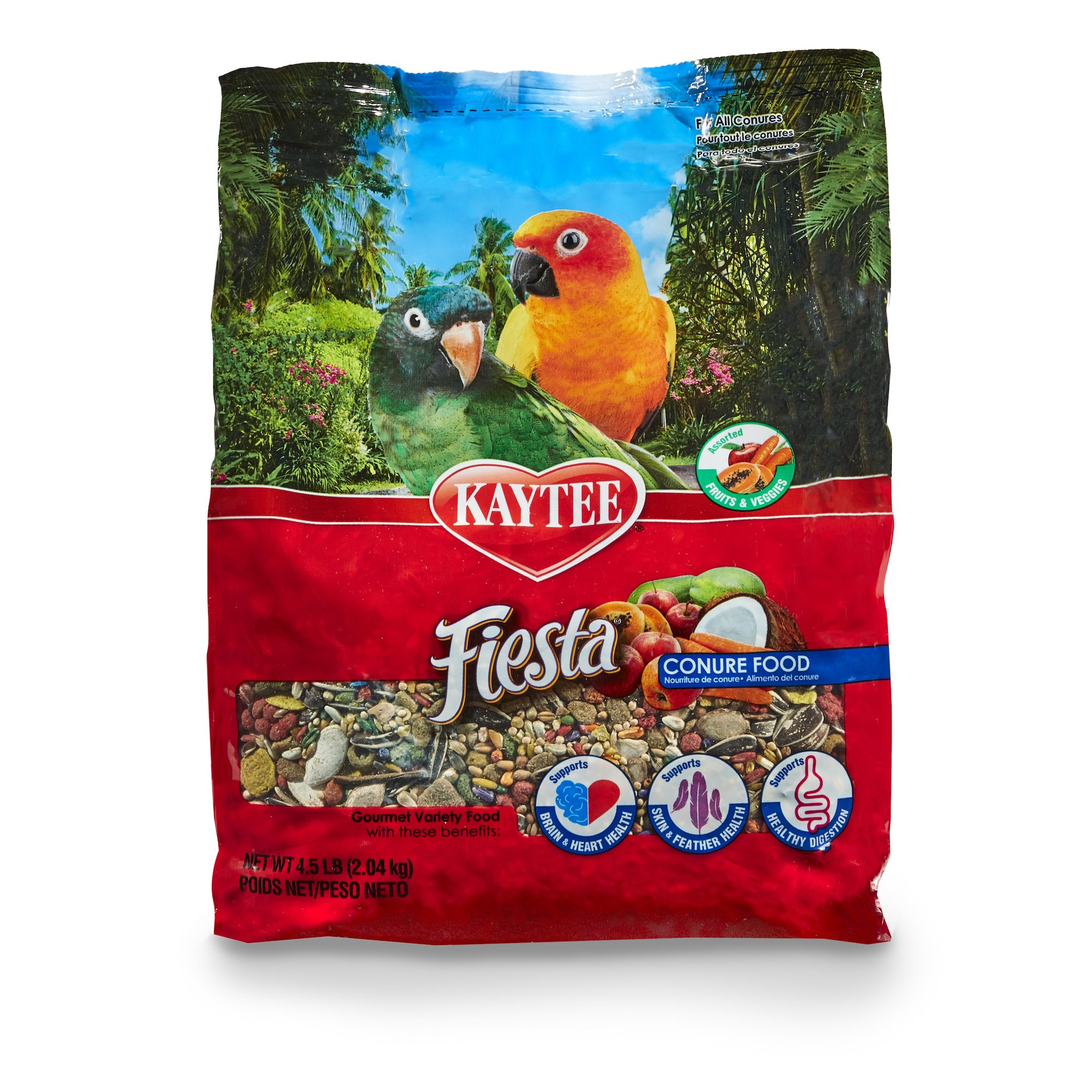 Kaytee Fiesta Gourmet Variety Bird Food For Conures,  4-1/2-Pound Bag by Kaytee